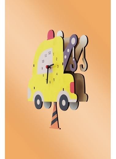 Peoples Clock Çekici Sallanan Sarkaçlı Çocuk Odası Duvar Saati Renkli